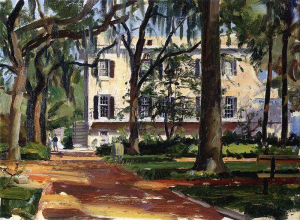 John Stobart - Savannah: Madison Square in the Fall