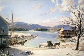 John Stobart - Somesville: A View of Mount Desert From Somes Cove
