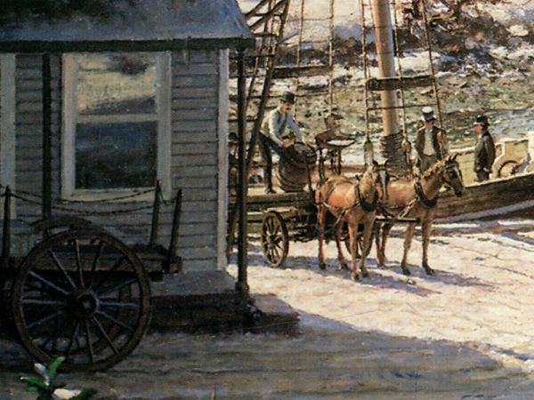 John Stobart - Somesville: A View of Mount Desert From Somes Cove