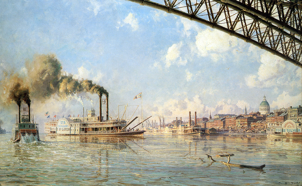 "John Stobart - St. Louis: ""The Gateway to the West"" in 1878"