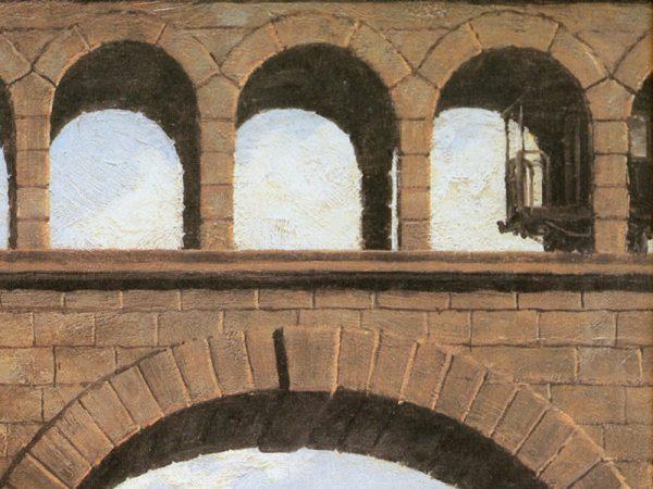 John Stobart - St. Louis: View Through the Arches of the Eads Bridge