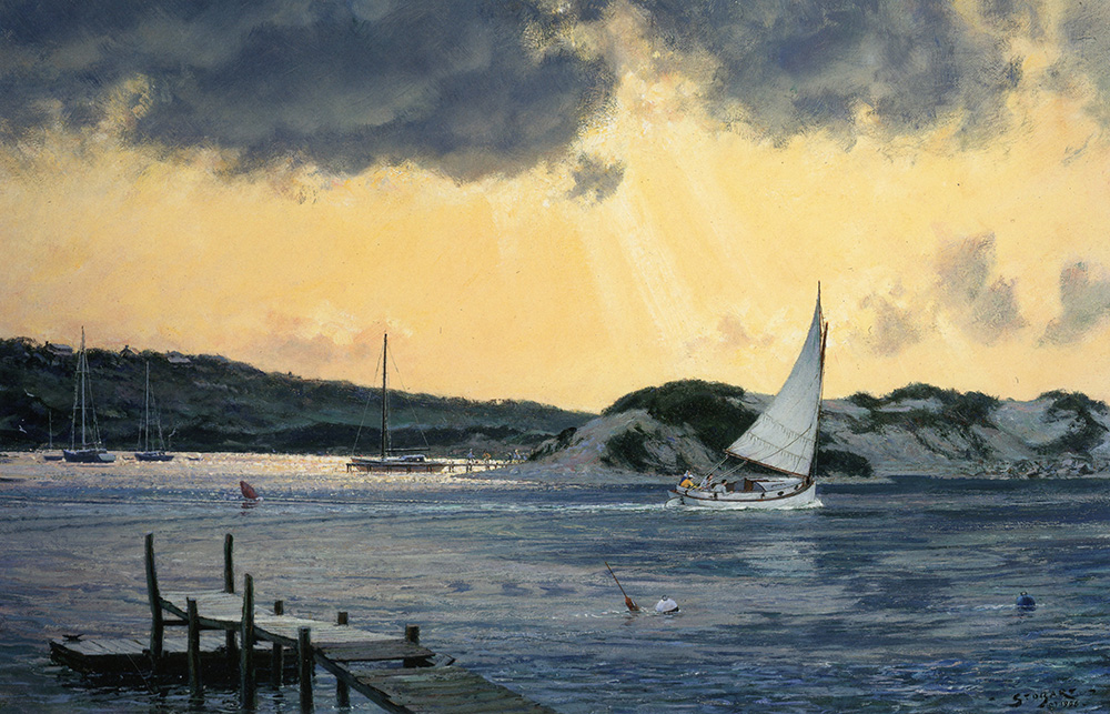 John Stobart - Sundown at Menemsha