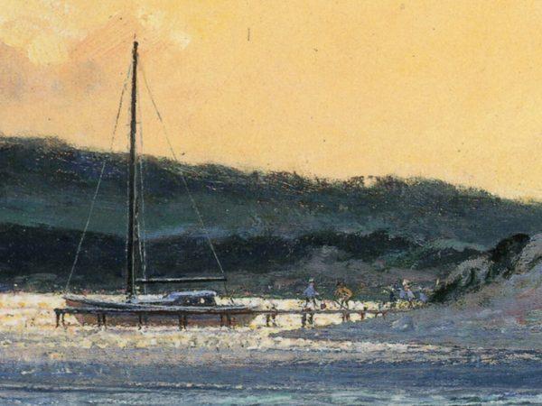 John Stobart - Sundown at Menemsha