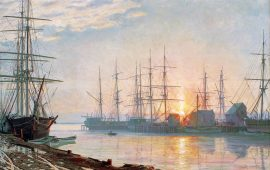 John Stobart - Sunrise Over Nantucket in 1835