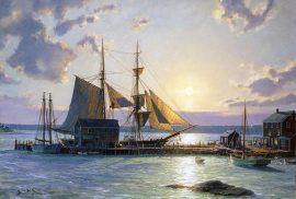 John Stobart - Sunset Over the Westport River in 1862