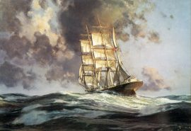 "John Stobart - The ""Gatherer"" Before the Wind"
