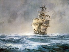 "John Stobart - The ""St. Mary"" Approaching Cape Horn"