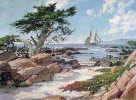 "John Stobart - The Brig ""Pilgrim"" Entering Monterey Bay in 1835"