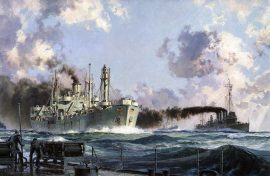 "John Stobart - The Liberty Ship: The ""John W. Brown"" in Convoy"