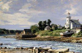 John Stobart - The Reversing Falls on Maine's Weskeag River