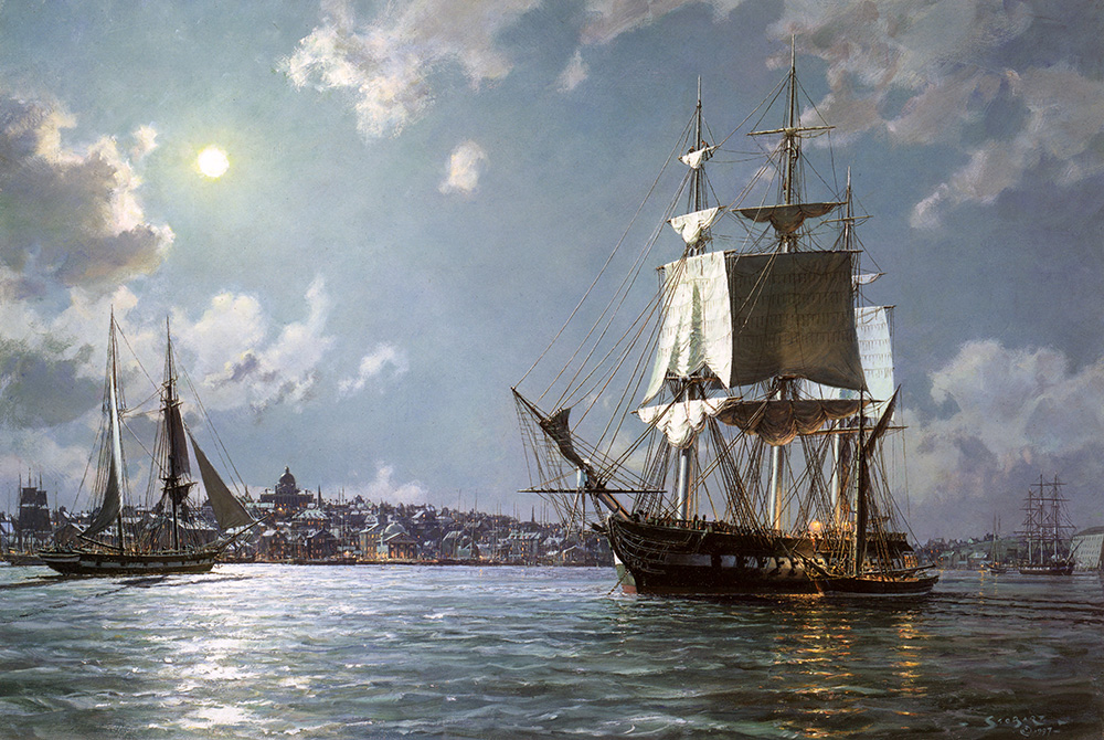 John Stobart - U.S.S. Constitution: Preparing To Sail on the Ebb Tide