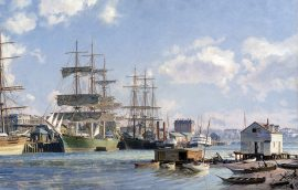 "John Stobart - Victoria: The ""Thermopylae"" Alongside Main Wharf in 1891"