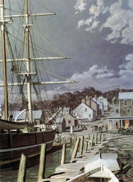 "John Stobart - Westport Point: The Whaling Brig ""Kate Cory"""