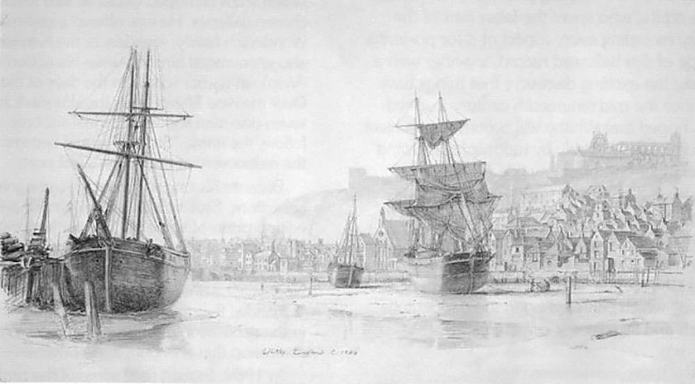 John Stobart - The Inner Harbour of Whitby, England, c.1880