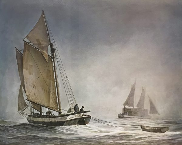 William Gilkerson Limited Edition Print - Scow Schooners on San Francisco Bay