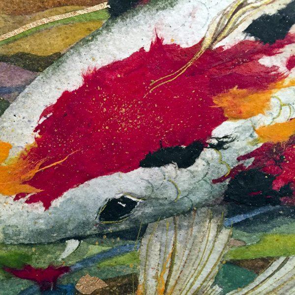 Beki Killorin Original Watercolor - Colorful Koi