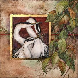 Beki Killorin Original Watercolor - Heron Circle