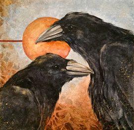 Beki Killorin Original Watercolor - Raven Daybreak