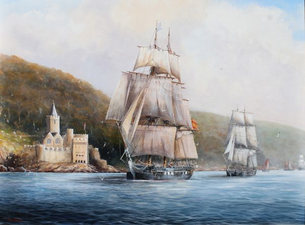 Paul Deacon Original Oil Painting - St. Philip Leaving Dartmouth
