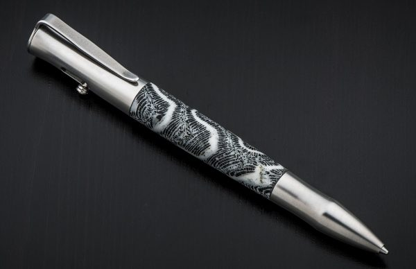 William Henry Bolt 'Antigua' Rollerball Pen - Fossil Coral