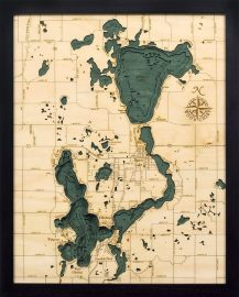 Bathymetric Map Lake Okoboji and Spirit Lake, Iowa