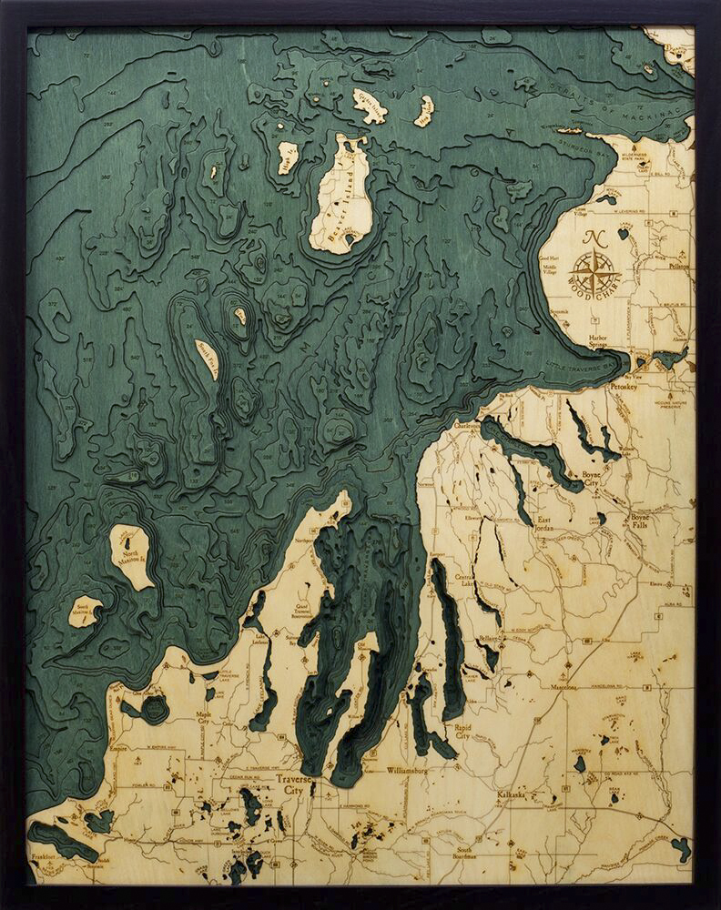 Bathymetric Map Northwest Lower Michigan