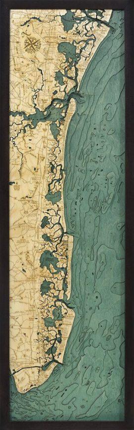 Bathymetric Map New Jersey South Shore