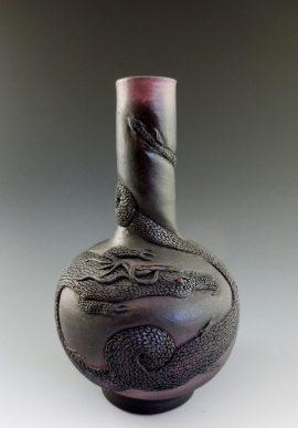 Nancy Adams - Black Dragon Vase