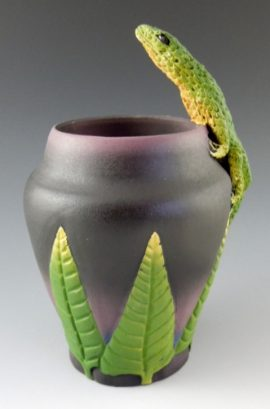 Nancy Adams - Lone Lizard Vase