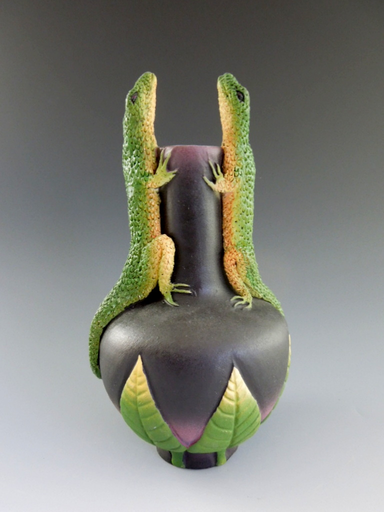 Nancy Adams - Two Lizard Vase