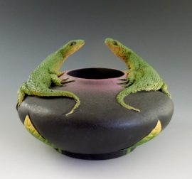 Nancy Adams - Two Lounging Lizards Bowl