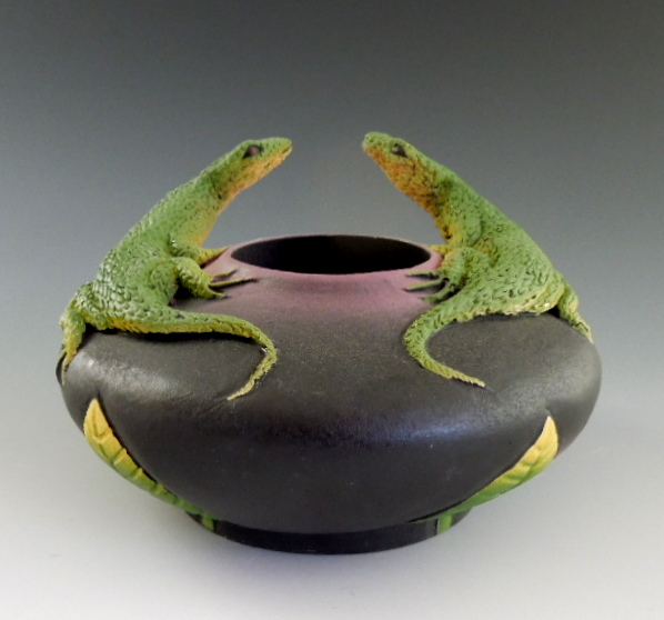 Nancy Adams - Two Lounging Lizards Bowl