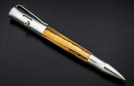 William Henry Bolt 'Cabo' Rollerball Pen - Black and White Ebony