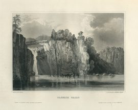 Antique Engraving - Passaie Falls, New Jersey (1852)