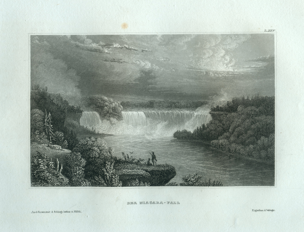 Antique Engraving - The Niagara Fall (1835)