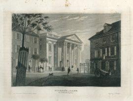 Antique Engraving - Girard's Bank Philadelphia (1836)
