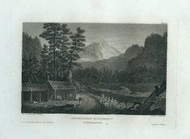 Antique Engraving - Ansiedler's Blockhouse (1833)