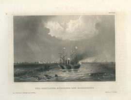 Antique Engraving - South-West Mouth of the Mississippi (1856)