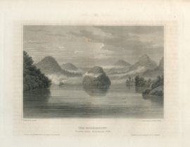 Antique Engraving - The Mississippi, St. Anthony's Falls (1856)