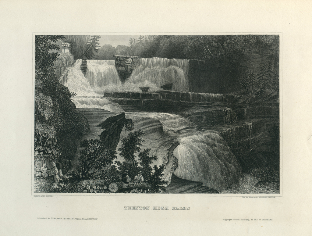 Antique Engraving - Trenton High Falls (1854)