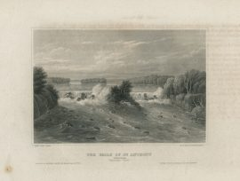 Antique Engraving - The Falls of St. Anthony, Mississippi