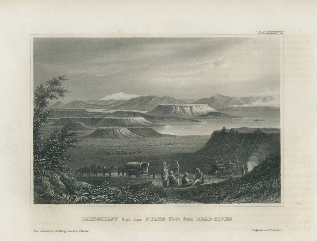 Antique Engraving - Read River, New Mexico (1854)