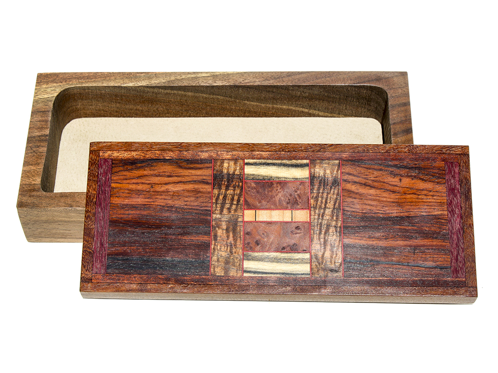 Jeffrey Seaton Signature Series Wooden Box - Cocobolo and Purple Heart
