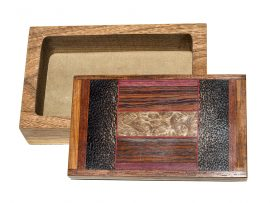 Jeffrey Seaton Signature Series Wooden Box - Mallee Burl and Black Palm
