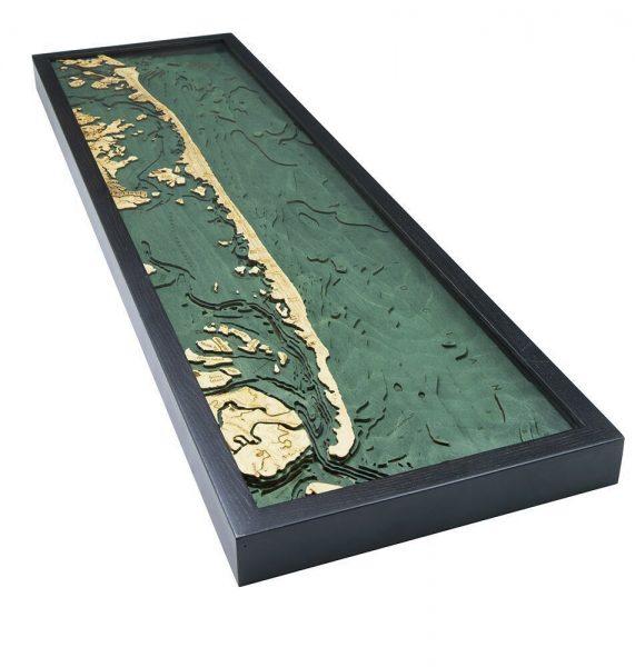 Bathymetric Map New Jersey Long Beach Island