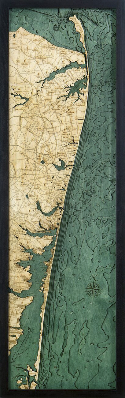 Bathymetric Map New Jersey North Shore