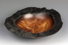 Jerry Kermode Redwood Natural Edge Bowl with Wide Nature Burnt Rim