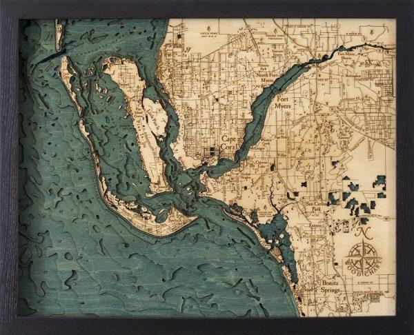 Bathymetric Map Ft. Myers, Florida
