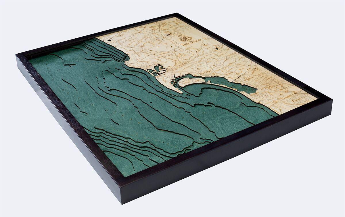 Used Jewelry San Diego Of Bathymetric Map San Diego California Scrimshaw Gallery