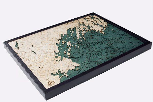 Bathymetric Map Portland, Maine